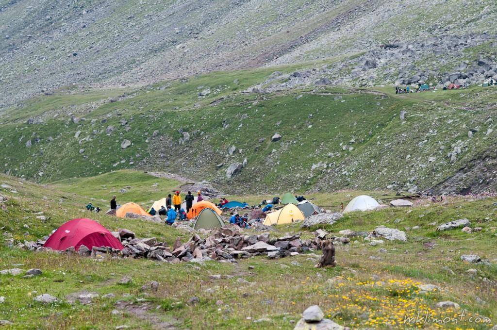 Kazbek obóz drugi