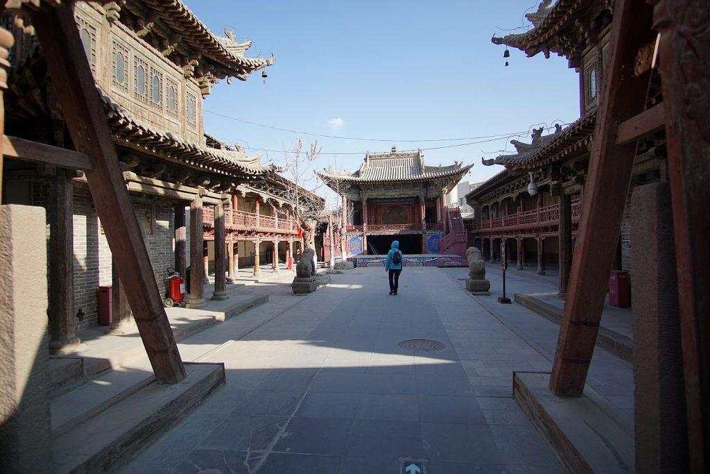 Świątynia i my jako jedyni turyści.