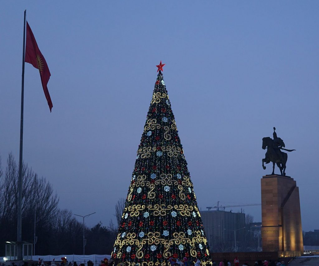 Ozdoba centrum Bishkeku - Manas.